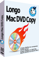 screenshot of Longo Mac DVD Copy, copy DVDs to computer hard drive or burn DVDs to blank discs.