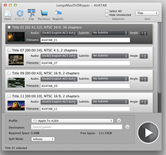 interface of longo mac dvd ripper