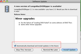 Longo Mac DVD Ripper can upgrade to the latest version