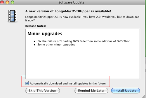Longo Mac DVD Ripper Screenshot