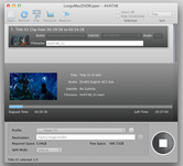 screenshot of ripping dvd clips with Longo Mac DVD Ripper