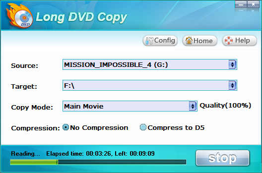 Longo DVD Copy interface