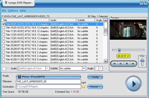 Click to view Longo DVD Ripper screenshots