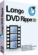 Purchase Longo DVD Ripper to rip DVDs to ipad, iphone, ps3, kindle fire, wmv, avi, mp4