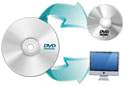 Longo DVD Copy can copy DVD to hard drive or burn DVD to blank discs.